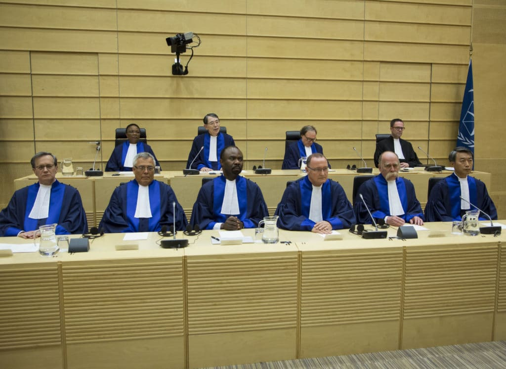 On 10 March 2015, six new judges of the International Criminal Court (ICC) were sworn in at a ceremony held at the seat of the Court in The Hague (Netherlands). Judges Marc Perrin de Brichambaut (France), Piotr Hofmański (Poland), Antoine Kesia-Mbe Mindua (Democratic Republic of the Congo), Bertram Schmitt (Germany), Péter Kovács (Hungary) and Chang-ho Chung (Republic of Korea) were elected for nine-year terms during the thirteenth session of the Assembly of States Parties (ASP) to the Rome Statute in December 2014. © ICC-CPI